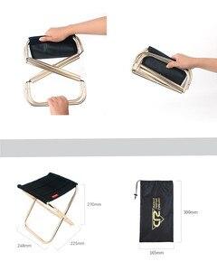 Image 5 - Ультра светильник из алюминиевого сплава, портативный складной стул, складная рыбалка стул для кемпинга, пикник барбекю пляжное сиденье, сумка для хранения