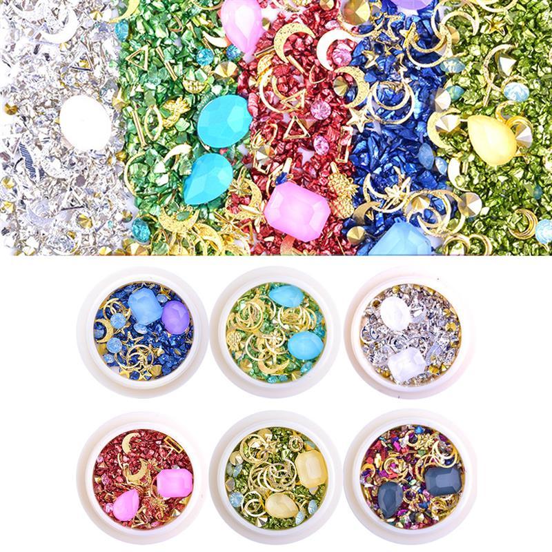 Micro cristal resina epóxi decoração de enchimento misturado esmagado pequeno quebrado diamante areia para diy arte do prego uv resina jóias fazendo