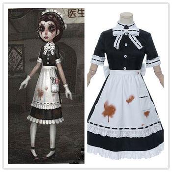 Gra tożsamość V cosplay doktor Emily Dale pokojówka sukienka kostium Halloween kostiumy karnawałowe dla kobiet dziewczyna