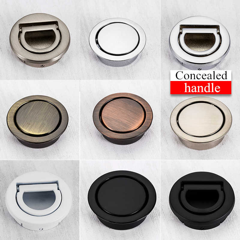 Concealed Dark Handle Hidden Form Drawer Round Concealed Hand Wardrobe Shoe Cabinet Accessories Wardrobe Hardware Fittings