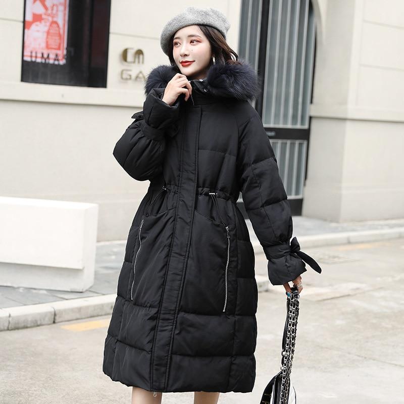 Jacket Women White Duck Down Coat Winter Down Jacket Women Jacket Korean Puffer Jacket Veste Femme 8098 YY1289