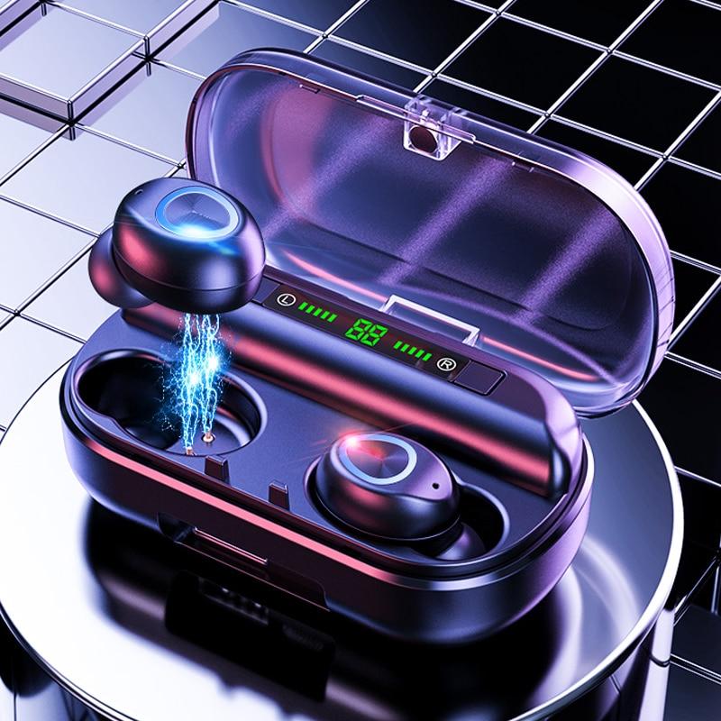 Galleria fotografica Tws Airpodering Auricolare Senza Fili Bluetooth con Microfono Display a Led Impermeabile con Cancellazione Del Rumore Cuffie per Iphone <font><b>Samsung</b></font>