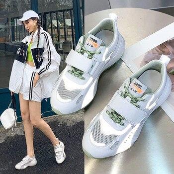 Single shoe women 2020 spring fashion ladies sports shoe outdoor leisure comfortable breathable thick bottom non-slip mesh shoe