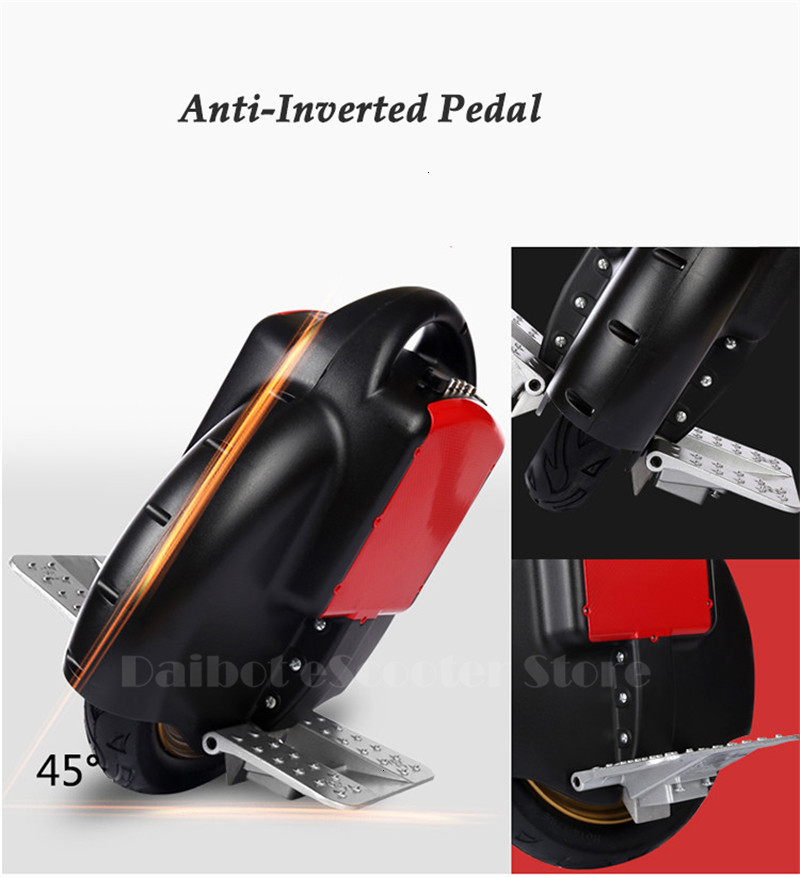 Daibot Portable Electric Scooter One Wheel Self Balancing Scooters Buletooth Speaker 14 Inch 350W 60V Electric Unicycle Scooter  (36)
