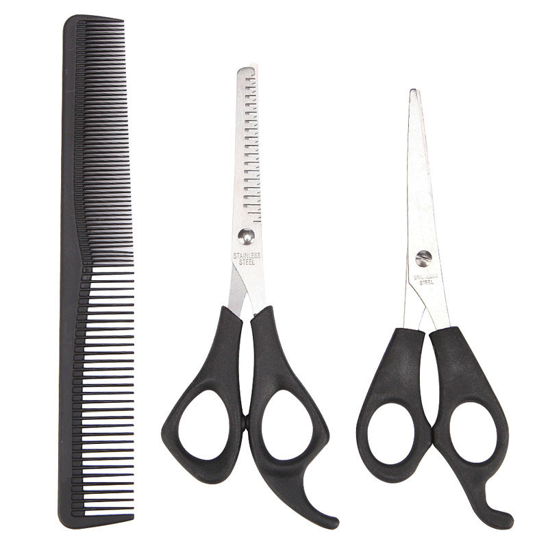 3 Pcs Hair Scissors Cutting Shears Salon Professional Barber Hair Cutting Thinning Hairdressing Styling Tool Hairdressing Comb