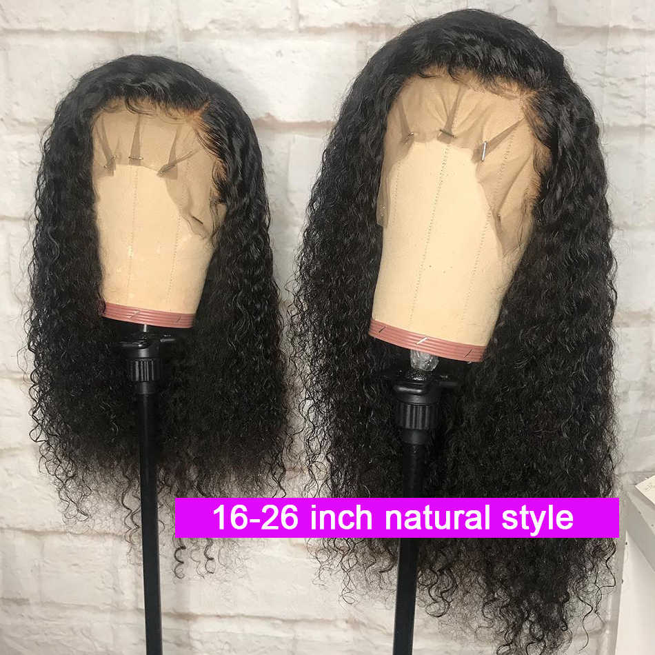 Ably Pre plucked Peruvian Curly Human Hair Wig 13x4 Lace Front Human Hair Wig With Baby Hair 8-26 Inches Remy Lace Wigs 150%