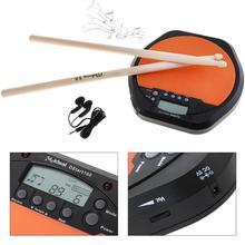 Цифровой Электрический барабанный коврик тренировочная практика метроном с двумя кленовыми барабанными палочками 5A барабаны клещи горячая Распродажа электронные барабаны
