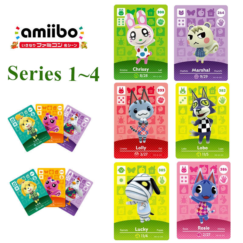 Series 1 To 4 Animal Crossing Amiibo Card New Horizons For NS Games Amibo Switch/lite Amiibo Card NFC Welcome Cards