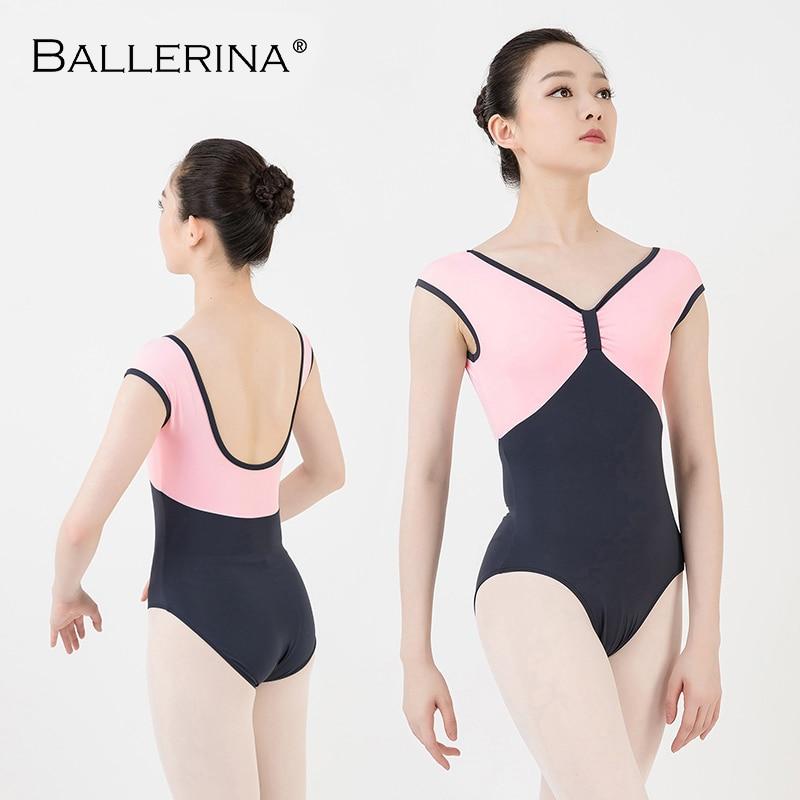 Women Ballet Practice Leotard Adulto Open Back Pink Sleeveless Gymnastics Leotard Dance Costume Of Girls Ballerina 5772