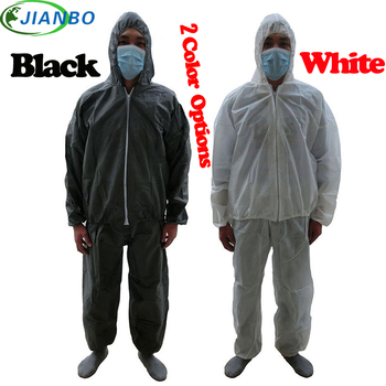Disposable Jumpsuit Work SMS Painting Food Workshop Laboratory Safety Pesticide Chemical White Split Clothing Protective Suit disposable protective clothing waterproof coverall industrial epidemic spray pesticide chemical protection asbestos work jacke