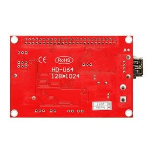 Image 3 - Huidu HD U64 HD U64 sterownik wyświetlacza LED pojedynczy i podwójny kolor P6 P10 moduł znaku led karta kontrolna u disk do edycji huidu HD U64