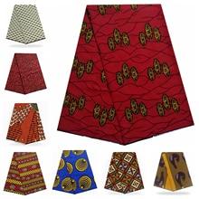 Нигерийская вышивка ткань Африканский хлопок Принт Анкара высокого качества настоящий шотландский вощеный хлопок Pagne Africain горячий воск настоящий