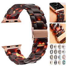 for apple watch series 4 band real carbon fiber watch straps for apple watch series 1 2 3 iwatch 38 4mm men s wrist bracelet Resin strap For Apple Watch 44mm band iwatch Series 5 4 3 2 1 Wrist watch Accessories 42mm loop 38mm bracelet Replacement 40mm