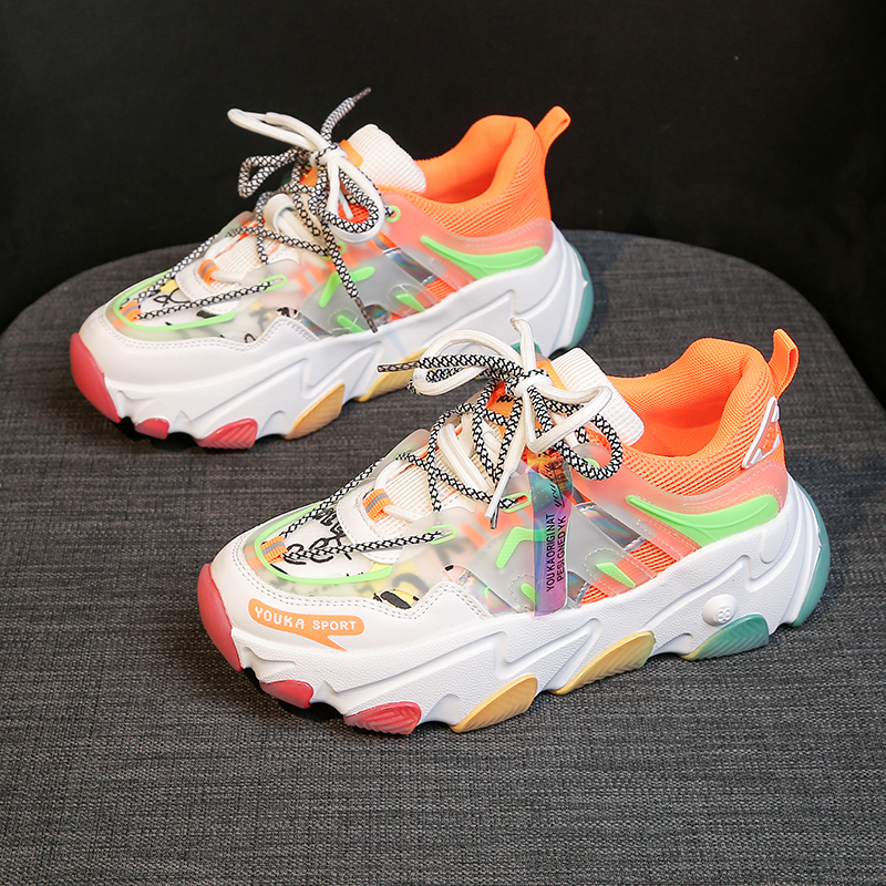 Women Chunky Sneakers Designers Mixed Colors Lace Up Old Dad Shoes Platform Woman Fashion Casual Shoes Tenis Female Trainers 4cm 1
