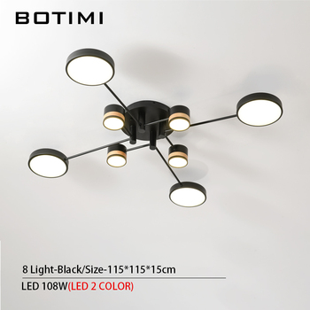 BOTIMI Home Decor LED Ceiling Lights For Living Room Round Metal Ceiling Lamps Surface Mounted Dining Lustres Bedroom luminaires 12