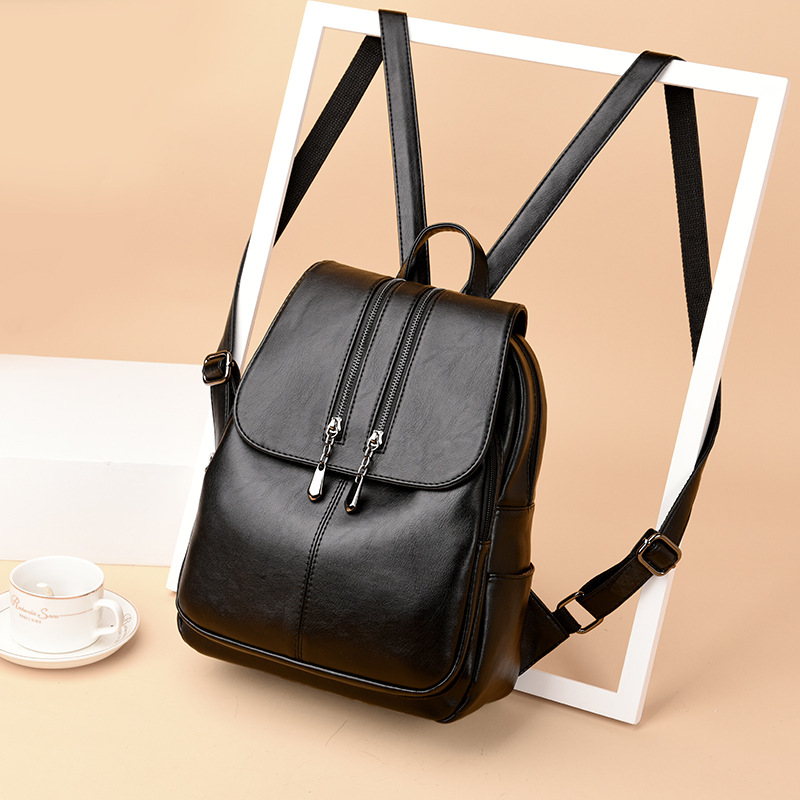 Image 2 - 2019 Brand New Laptop Backpack Women Leather Luxury Backpack Women Fashion Backpack Satchel School Bag Pu-in Backpacks from Luggage & Bags
