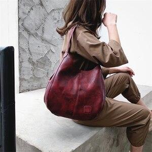 Image 4 - Vintage deri lüks çanta kadın çanta tasarımcısı çanta ünlü marka kadın çanta büyük kapasiteli Tote çanta kadınlar için kesesi ana