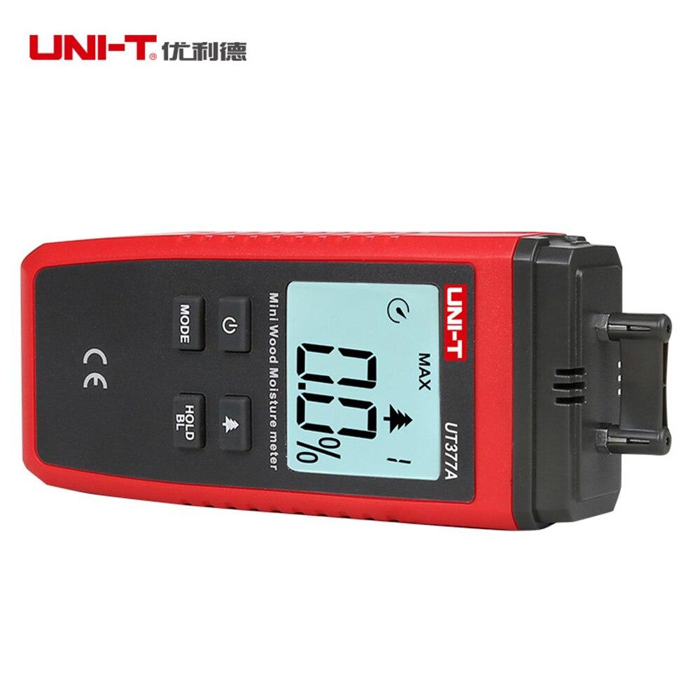Купить с кэшбэком UNI-T UT377A Digital Wood Moisture Meter Hygrometer Humidity Tester for Paper Plywood Wooden Materials LCD Backlight new