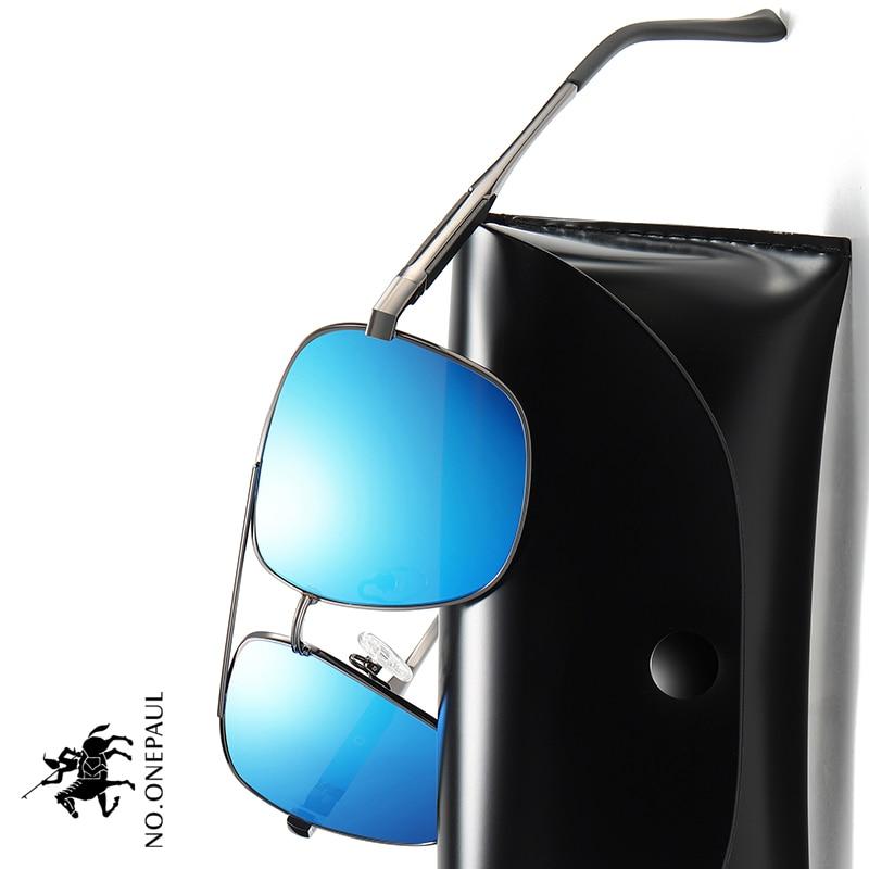 NO.ONEPAUL Eyewear Men Polarized Sunglasses Retro Classic Glasses Brand Goggles Leisure UV400 Protection Metal Frame Oculos