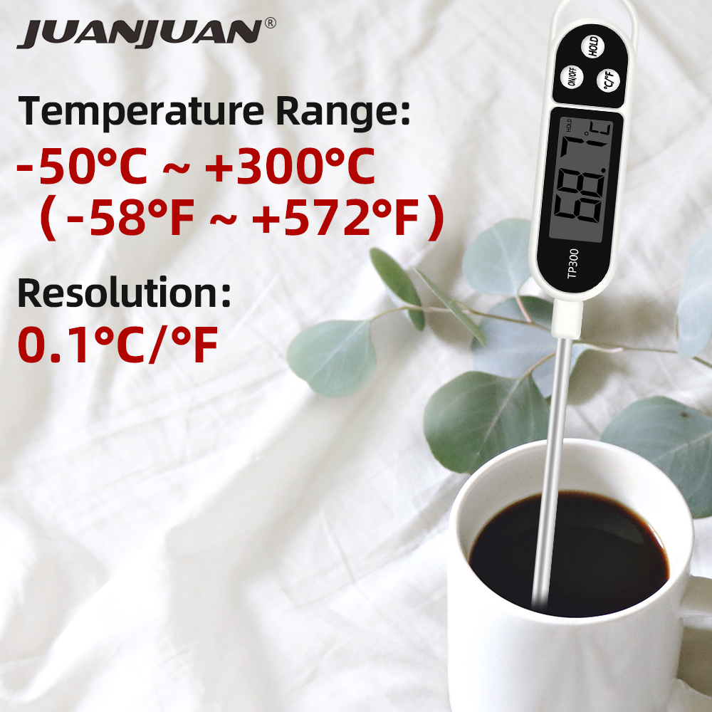JUANJUAN TP300 Food Thermometer Made of Metal for Soup Milk Coffee and Barbecue with 300 Degree Celsius Temperature Range 2