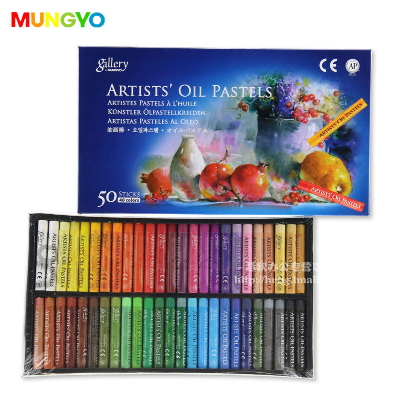 Assorted 12/25/48 Colors Artists' Oil Round Pastel Set Stationery School Drawing Supplies Kids Gift
