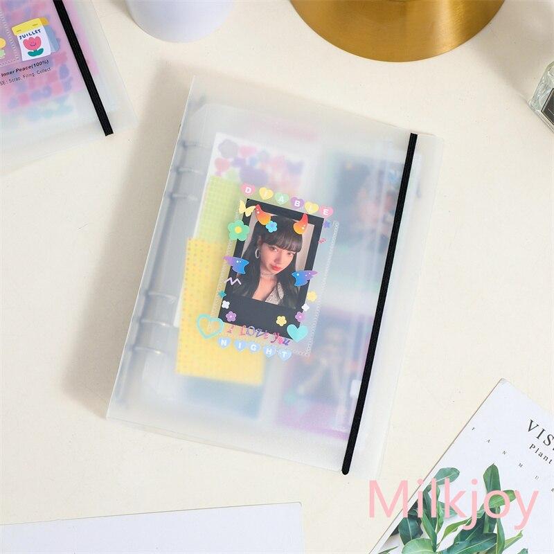 milkjoy a5 binder photocard armazenamento coletar livro 04