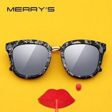 MERRYS дизайн женские модные квадратные Поляризованные Солнцезащитные очки женские роскошные брендовые трендовые солнцезащитные очки UV400 защита S6082N