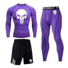 Мужской модный спортивный костюм для бега и фитнеса Быстросохнущий