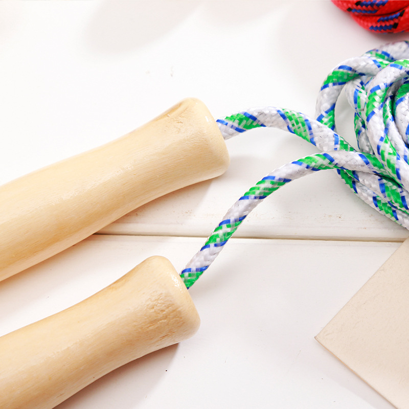 Profession Jump Rope Students Jump Rope Hollow Wooden Handle Cotton Binder Jump Rope Stall Stationery Supply Of Goods Children S