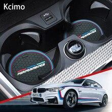 2PCS Car Coasters Cup Holder Mats for BMW F10 F11 F07 E60 E61 F01 G11 F25 G01 G26 G02 F15 G05 E70 F16 G06 M Anti-slip Pad