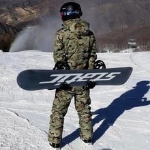 30 камуфляж Для мужчин с защитой от снега, одежда Лыжный Спорт Комплекты фирменные комплекты для сноубординга Водонепроницаемый толстые хлопчатобумажные зимние Куртки и Штаны