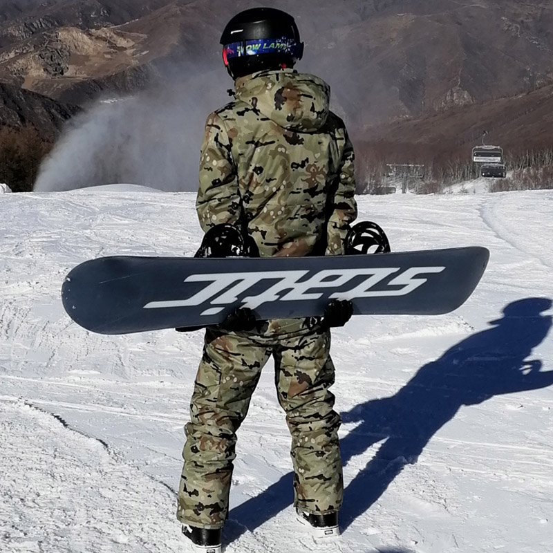 -30 Camouflage Men's Snow Clothes Skiing Suit Sets Specialty Snowboarding Sets Waterproof Thicker Cotton Snow Jackets And Pants