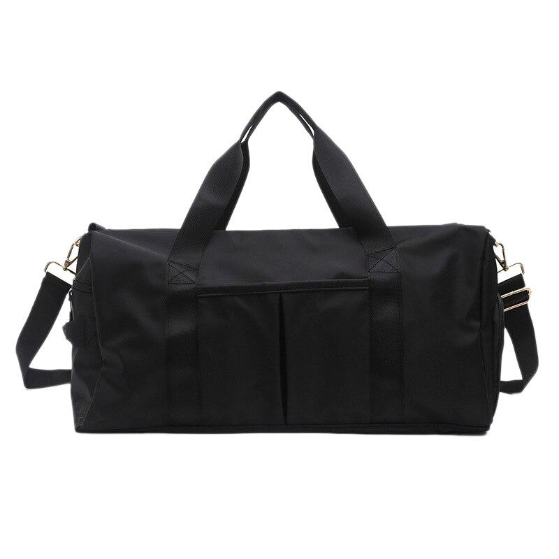 Outdoor Waterproof Nylon Sports Gym Bags Women Girls Training Fitness Travel Handbag Yoga Mat Bag Sac Sport