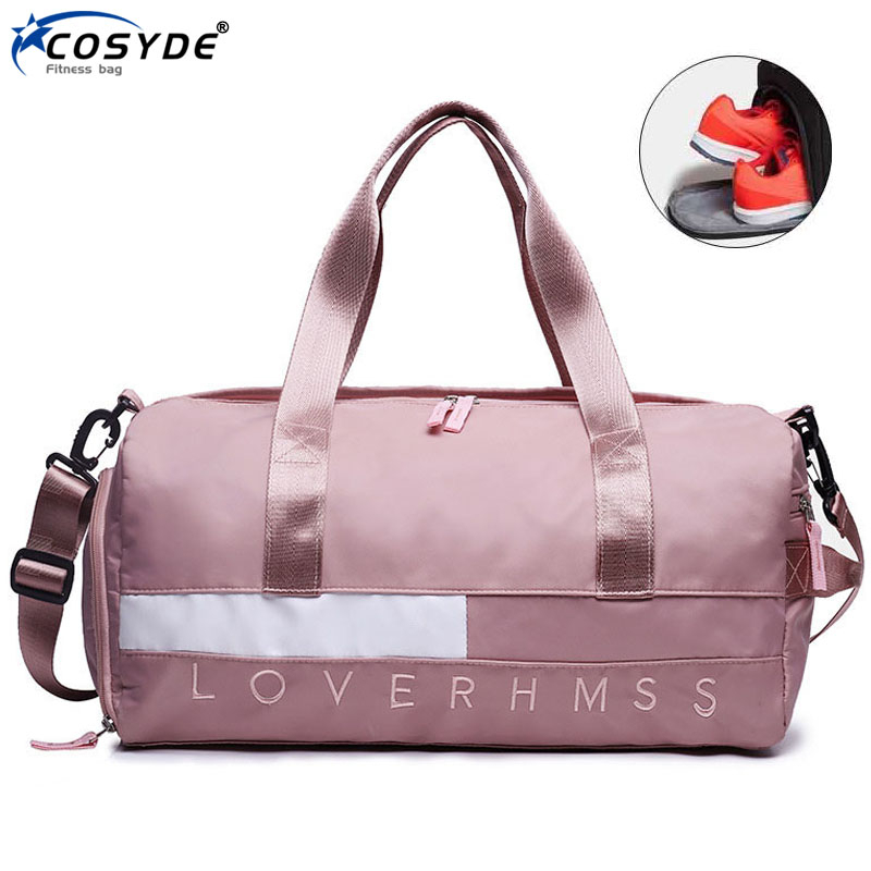 Wet Dry Large Sports Bag For Women Fitness New Sac De Sport Femme Waterproof Travel Training Bag Shoes Outdoor Men Gym Bag Pink