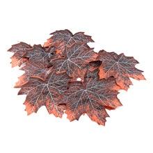 12pcs/pack Artificial Maple Leaves Reptiles Habitat Fall Terrarium Lifelike Autumn Leaf Realistic Tank Decor Withered Decorative