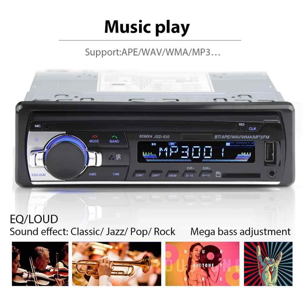 Autoradio 1 din รถวิทยุ JSD 520 รถสเตอริโอบลูทูธ mp3 recorder usb sd อินพุต aux oto teypleri อัตโนมัติวิทยุรถ player