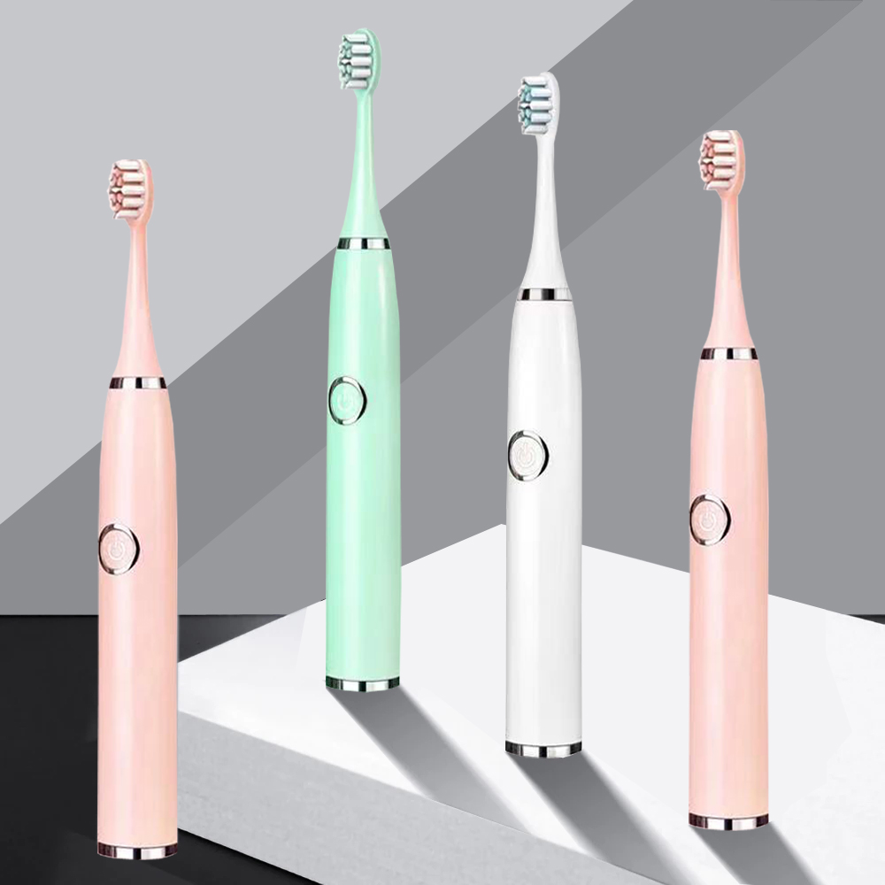 Super Sonic Electric Toothbrushes for Adults Kid Smart Timer Whitening Toothbrush IPX7 Waterproof Replaceable AA Battery Version 1