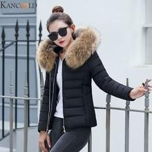 KANCOOLD New Winter Coat Women Winter Jacket Womens Parkas Gloves warm detachabl