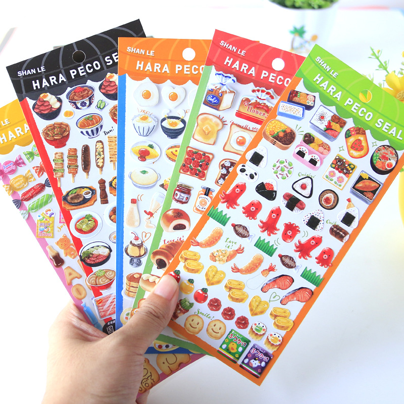 DIY Colorful Kawaii Candy Sushi Ice Cream Stickers Diary Planner Journal Note Diary Paper Scrapbooking Albums PhotoTag