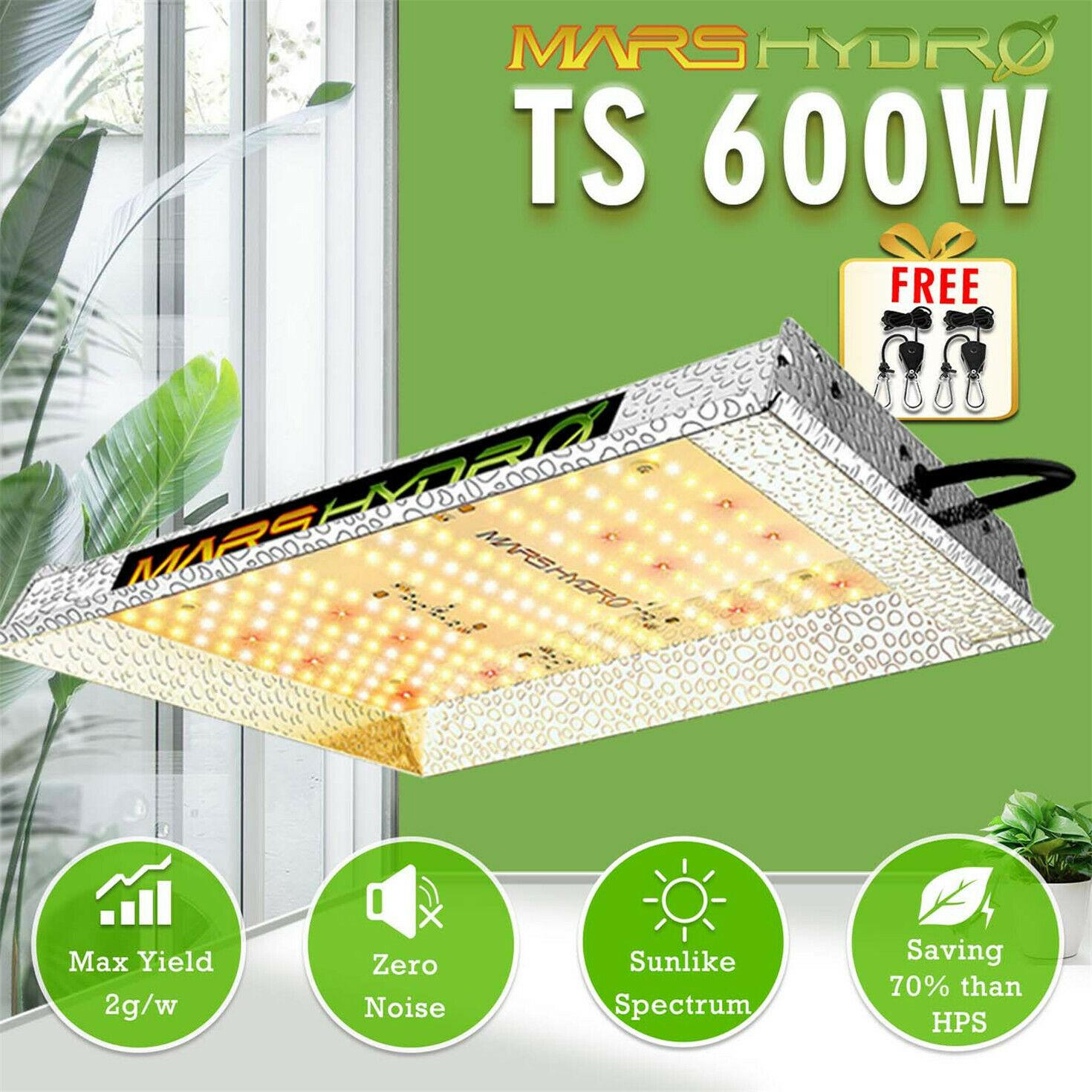 Luces LED de cultivo Mars Hydro TS 600W para plantas de interior, reemplazo de flores vegetales HPS HID