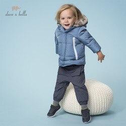 DB11995 dave bella/зимнее детское пуховое пальто унисекс с капюшоном и карманами на молнии, верхняя одежда детская куртка с подкладкой из 90% белого у...