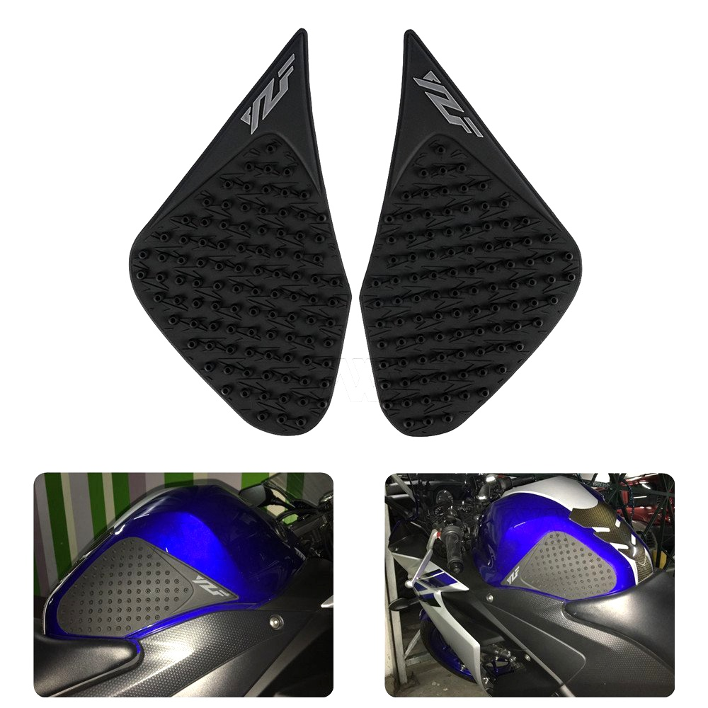 Motorbike Tank Pad Protector Sticker Decal Gas Knee Grip Tank Traction Pad Side For Yamaha YZF R25 R3 2013-2016 YZF-R25 YZF-R3