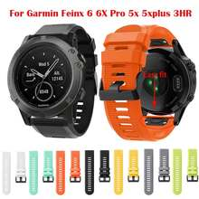 Für 20 22 26MM Garmin Fenix 6 6X6 S Pro 5S 5X5 Plus 3HR silikon Strap Forerunner 935 Instinct Armband Quick Fit Band corre(China)