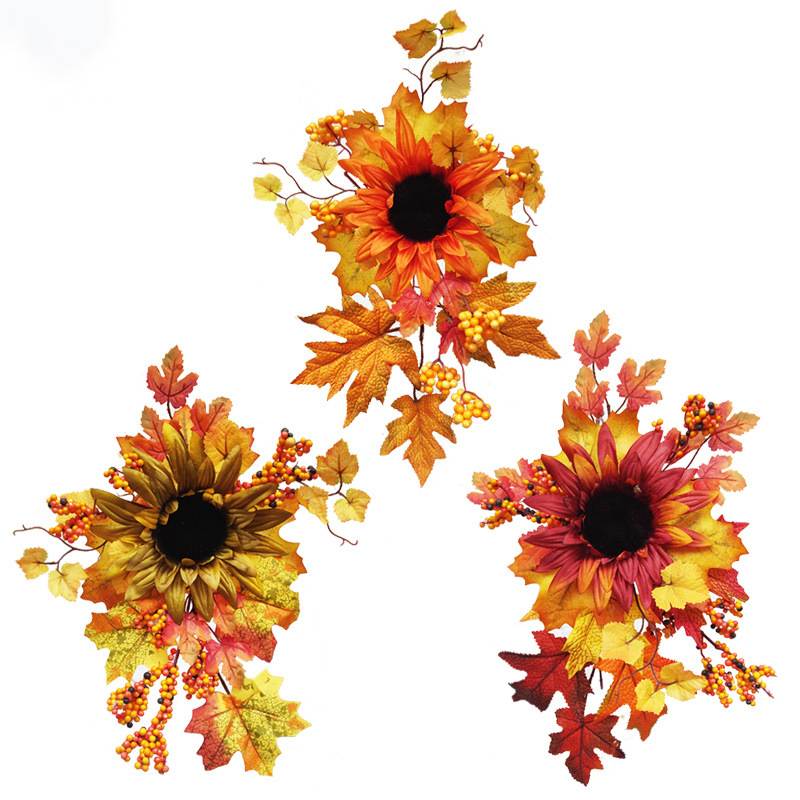 300 Pcs Fall Harvest Decoration Prop Set Artificial Maple Leaves Faux Acorn Red Berries for Halloween Thanksgiving Christmas Autumn Party Table Home Decor