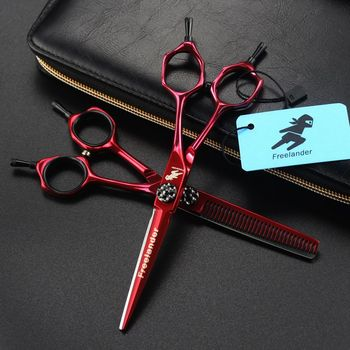 цена на Professional 6 inch Stainless Barber Shears Cutting Shears Thinning Scissors Salon Hairdressing Scissors Hair Scissors