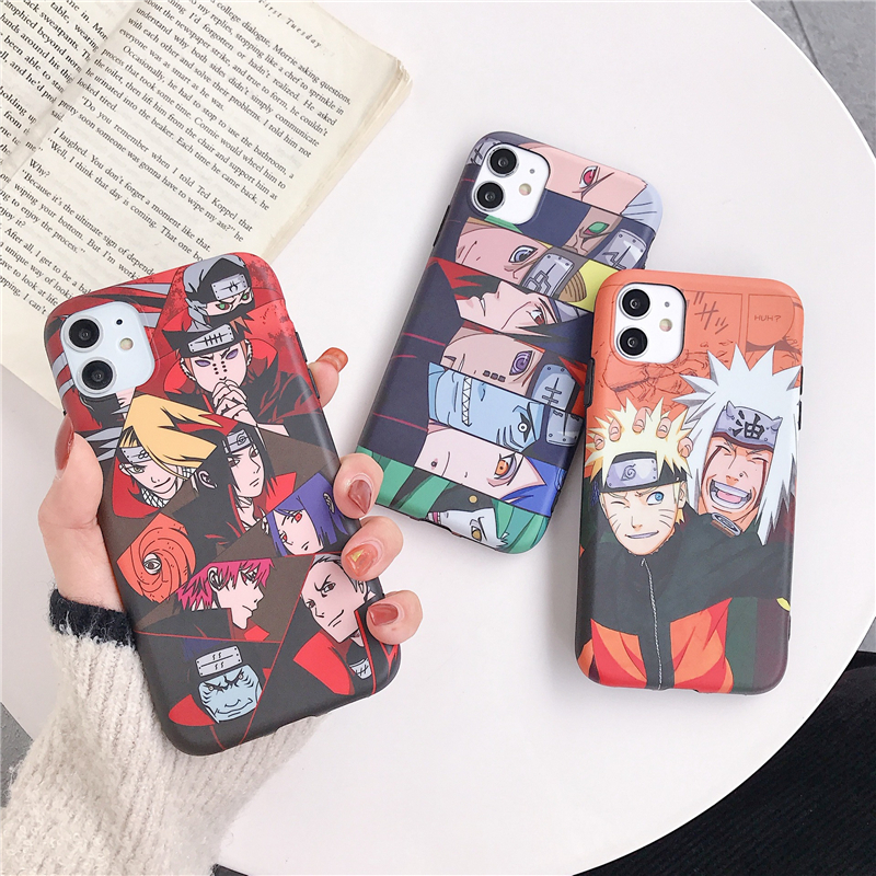 NARUTO Phone Case Cell Phone Protective Case Cosplay Anime Lovers Adult For IPhone 11Pro / Max / X / XS / XR6s / 8plus / 7