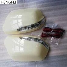אביזרי רכב שונה Hengfei מראה כיסוי עם LED איתות מנורת עבור מאזדה 3 6 M3 M6 אחורית מראה פגז