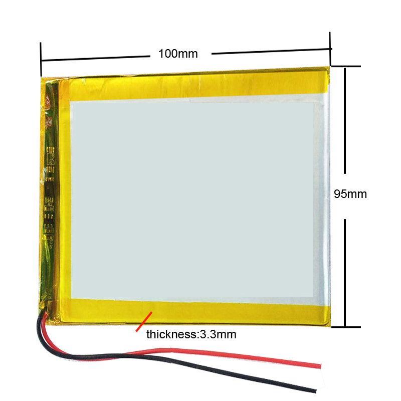 3090100 3095100 3.7V Lithium polymer Battery with Protection Board For PDA Tablet PCs Digital Products 3x90x100mm <font><b>4000</b></font> <font><b>mAh</b></font> image
