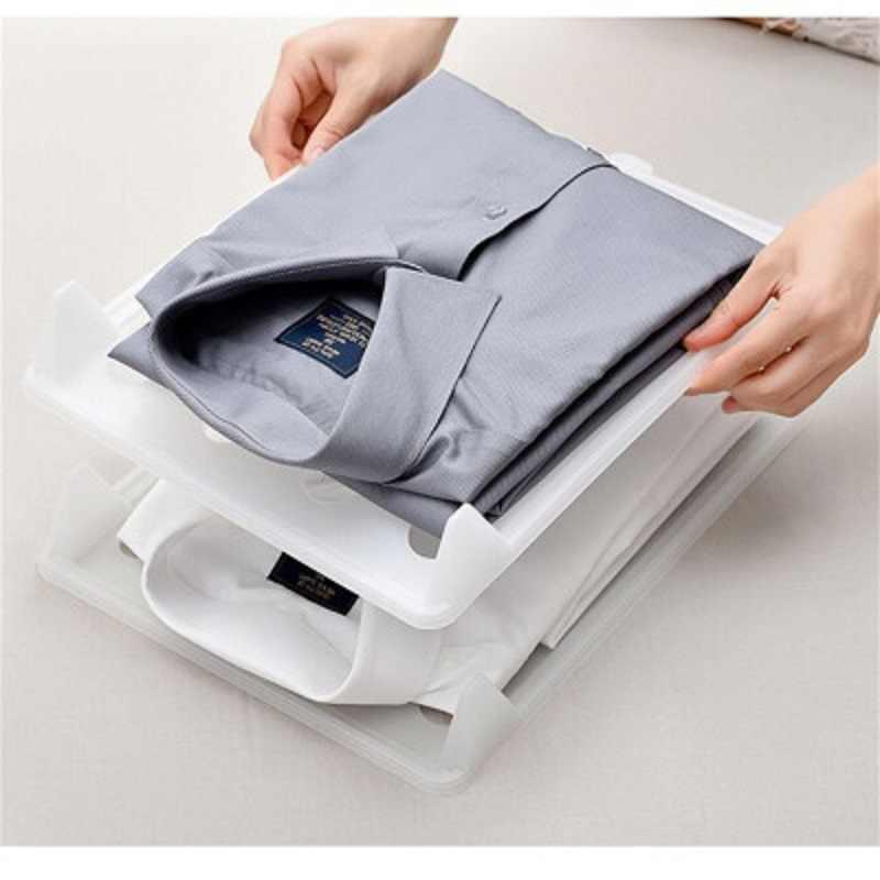 JOYLOVE 의류 주최자 옷장 보관소 여행 조직 시스템 TShirt 접이식 보드 홈 주최자 도구 보관함