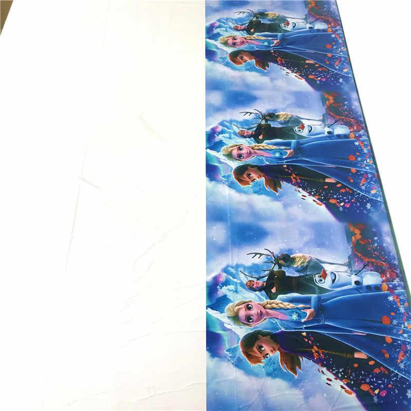 108*180cm Party Wegwerp Tafelkleed Bevroren 2 Verjaardagsfeestje Tafelkleed Voor Baby Meisjes Elsa Anna Prinses Thema tafel Dekken